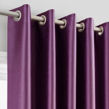 Montana Plum Lined Eyelet Curtains