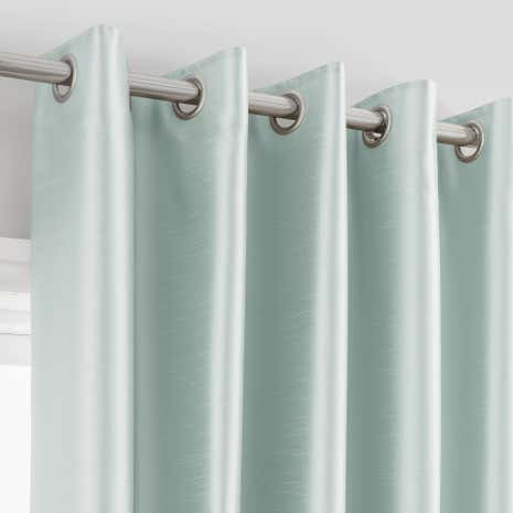 Montana Duck-Egg Lined Eyelet Curtains