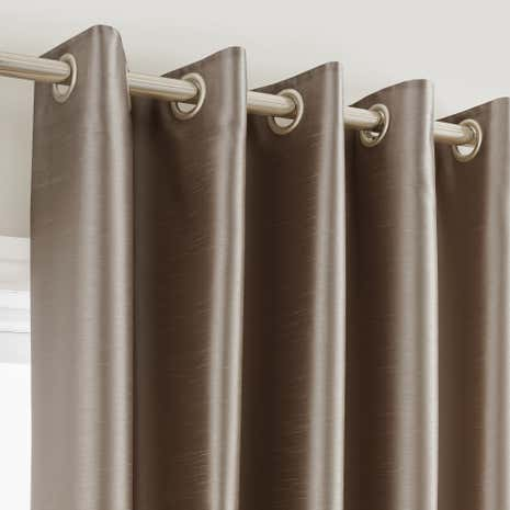 Montana Mink Lined Eyelet Curtains