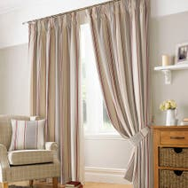 Red Paignton Lined Pencil Pleat Curtains