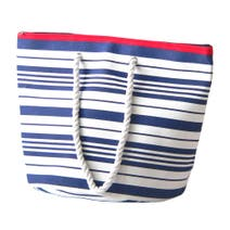 Nautical Striped Beach Bag