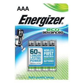 Energizer Eco Advanced AAA 4 Pack