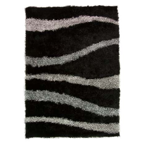 Black Vibe Shaggy Rug