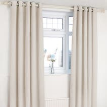 Orion Natural Blackout Eyelet Curtains
