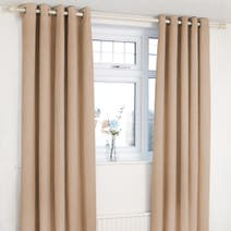 Orion Biscuit Blackout Eyelet Curtains