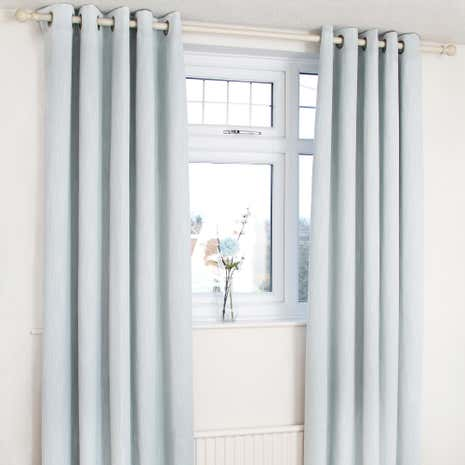 Orion Duck-Egg Blackout Eyelet Curtains