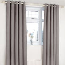 Orion Charcoal Blackout Eyelet Curtains