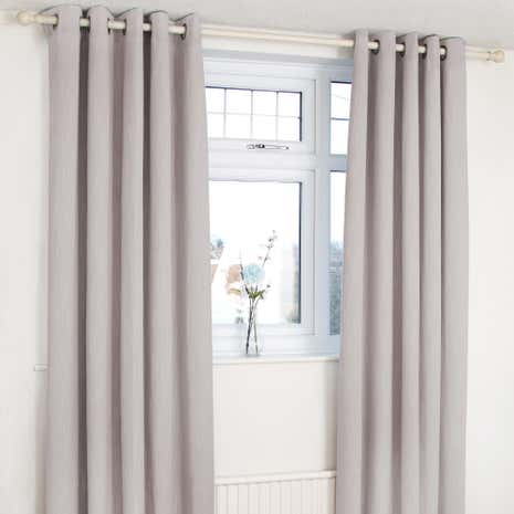 Orion Dove Grey Blackout Eyelet Curtains