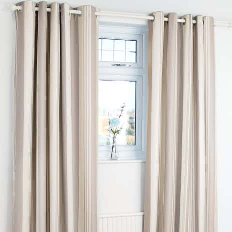 Astrid Natural Blackout Eyelet Curtains