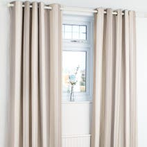 Natural Astrid Blackout Eyelet Curtains