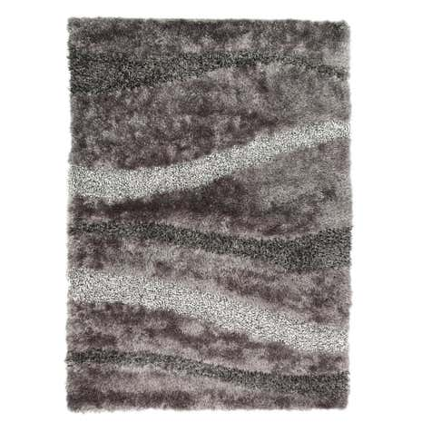 Grey Vibe Shaggy Rug