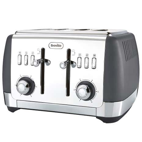 Breville VTT764 Strata Collection Grey 4 Slice Toaster