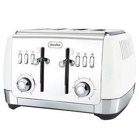 Breville VTT762 Strata Collection White 4 Slice Toaster