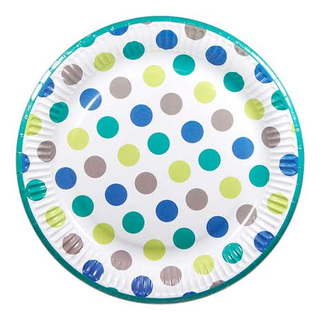 Boys Party Paper Plates 8 Pack