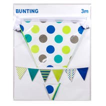 Boys Party Bunting 3 Metres