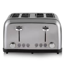 Tower T20003 4 Slice Stainless Steel Toaster