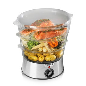 Sunbeam Electric Vegetable Steamer ~ Steamers microwave sunbeam tier food steamer