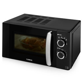 Tower 800W Black 20L Digital Microwave