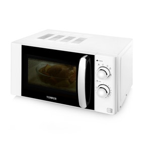 Tower T24009W 800W White 20L Digital Microwave