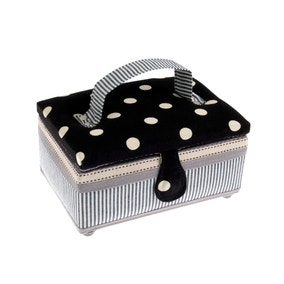 Small Dots and Stripes Sewing Box