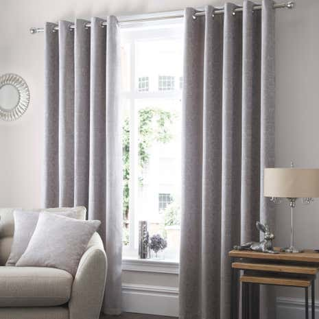 Althorp Silver Lined Eyelet Curtains
