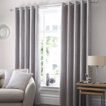 Silver Althorp Lined Eyelet Curtains