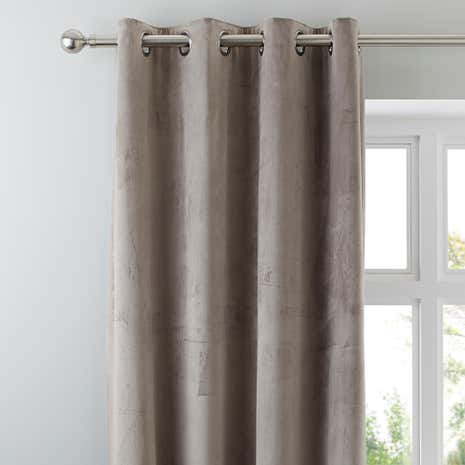 Ashford Dove Grey Lined Eyelet Curtains