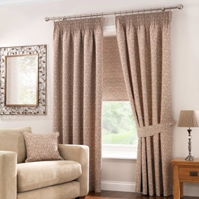 Windsor Terracotta Lined Pencil Pleat Curtains