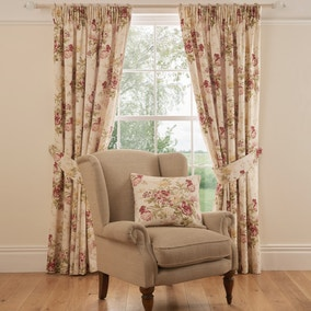 Dorma Brympton Red Lined Pencil Pleat Curtains