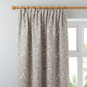 Dorma Lyndhurst Natural Lined Pencil Pleat Curtains