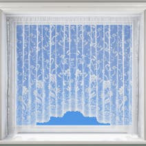 Eleanor White Lace Jardiniere Net Curtain