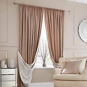 Elegance Natural Lined Slot Top Curtains
