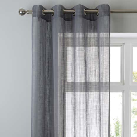 Elements Aspen Grey Sheer Voile