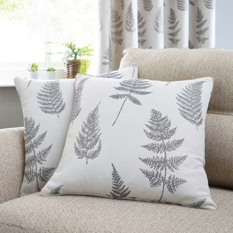 Grey Fern Cushion