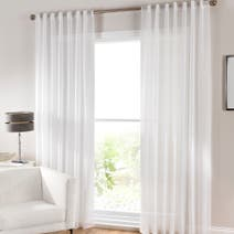 Grove White Voile Panel