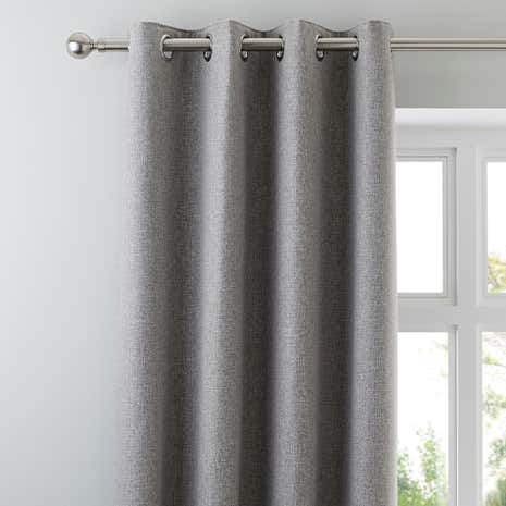 Harris Grey Thermal Eyelet Curtains Part 93