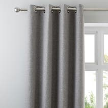 Grey Harris Thermal Eyelet Curtains