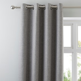 Harris Grey Thermal Eyelet Curtains
