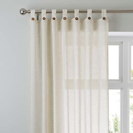 Marley Linen Natural Sheer Voile