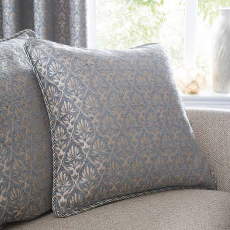 Heritage Duck Egg Mulberry Cushion