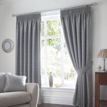 Heritage Mulberry Duck Egg Lined Pencil Pleat Curtains