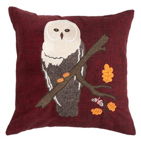 Appliqued Owl Cushion