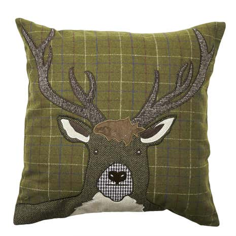 Appliqued Stag Cushion