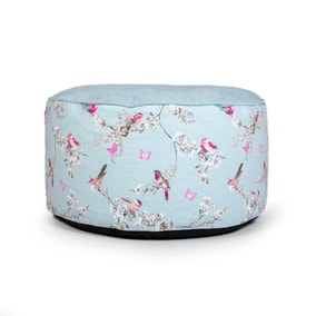 Beautiful Birds Duck Egg Pouffe