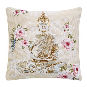 Natural Buddha Tapestry Cushion