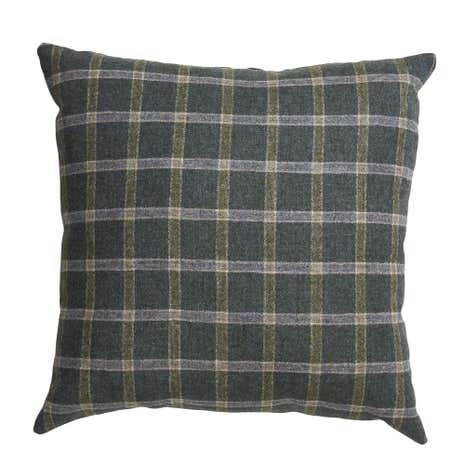 Regen Green Checked Cushion