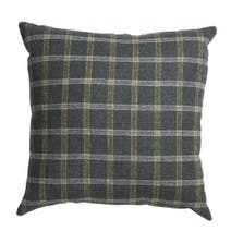 Green Regen Checked Cushion