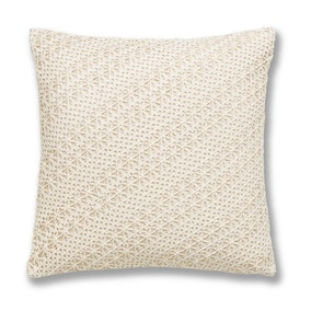 Elizabeth Natural Crochet Cushion