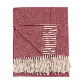 Dorma Maldon Claret Wool Throw