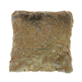 Natural Faux Fur Cushion